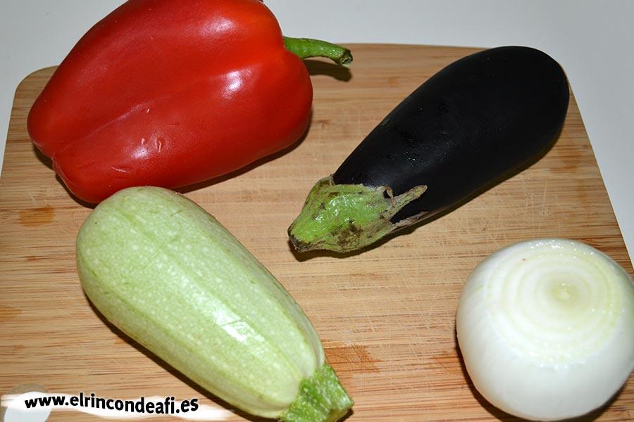 Verduras en tempura, lavar y secar las verduras